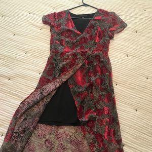 Sanctuary dress with red velvet